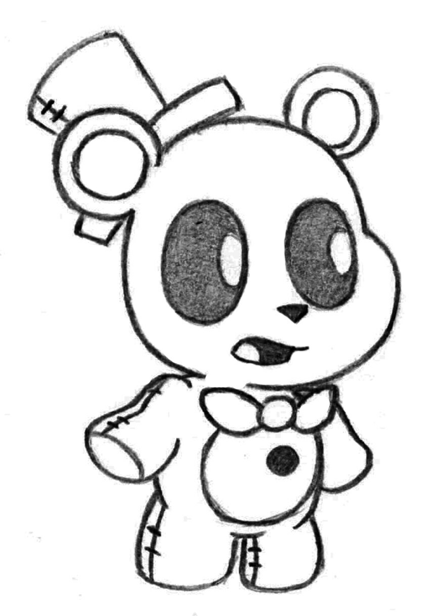 858x1216 neutral fnaf coloring pages printable