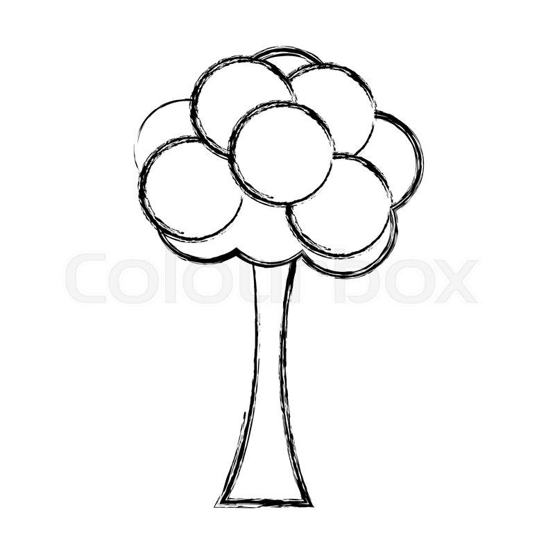800x800 Tree Bush Cartoon Foliage Ecology Stock Vector Colourbox