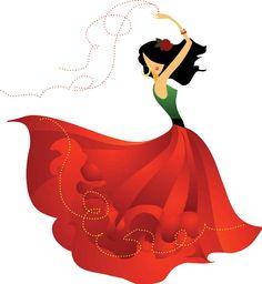 Folklorico Dancer Drawing