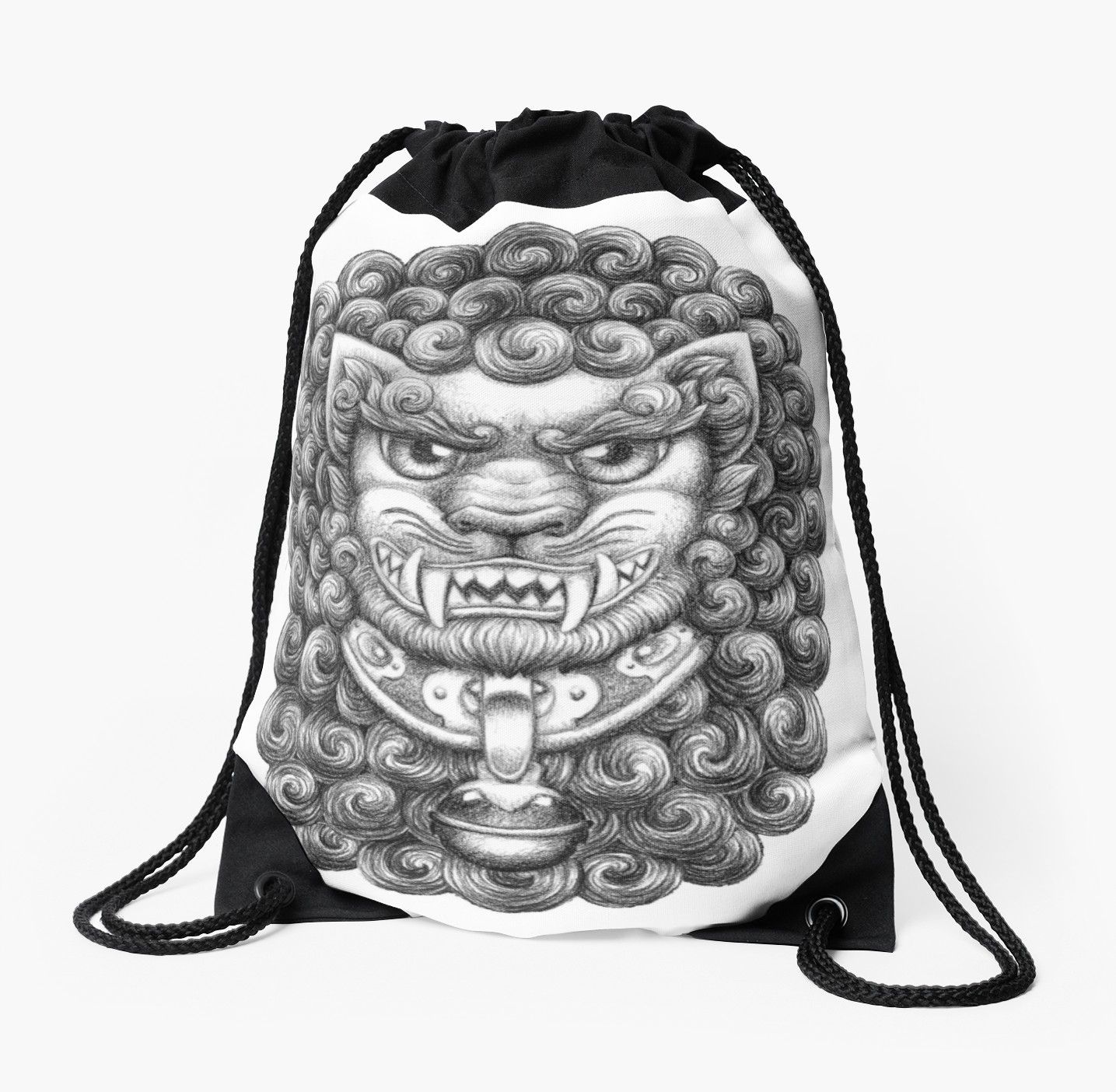 1435x1404 Foo Dog Guardian Lion Pattern