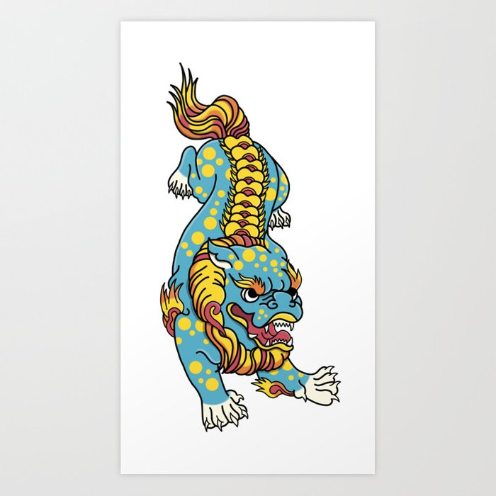 700x700 Foo Dog Art Print