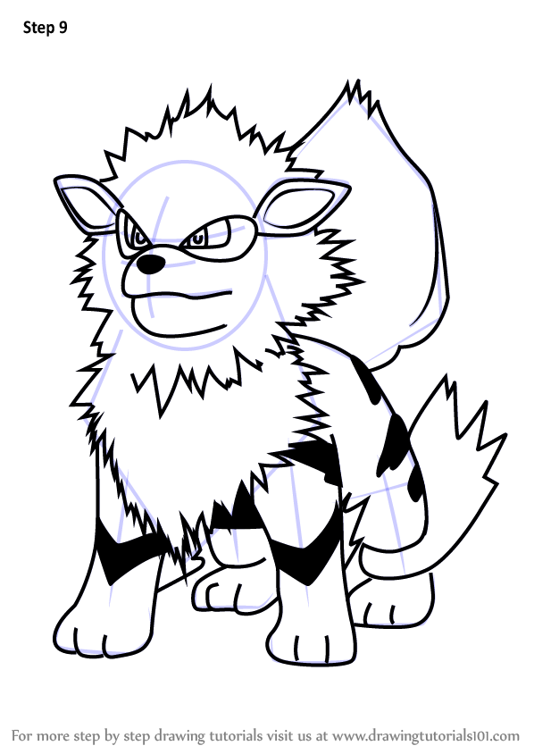 598x844 Arcanine Lineart Drawing Pokemon For Free Download