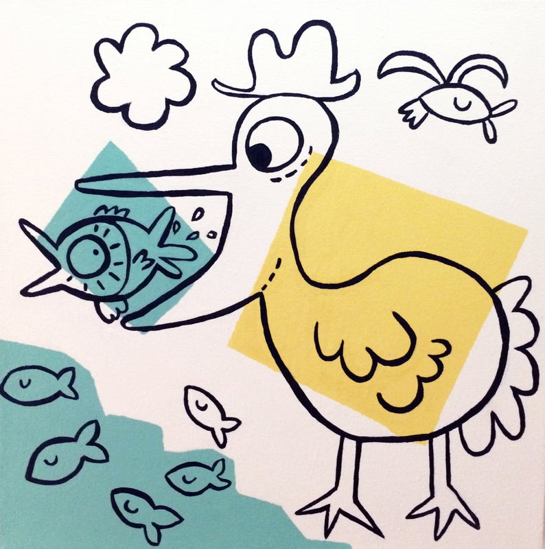 794x800 Food Chain Acrylic On Canvas Painting Etsy