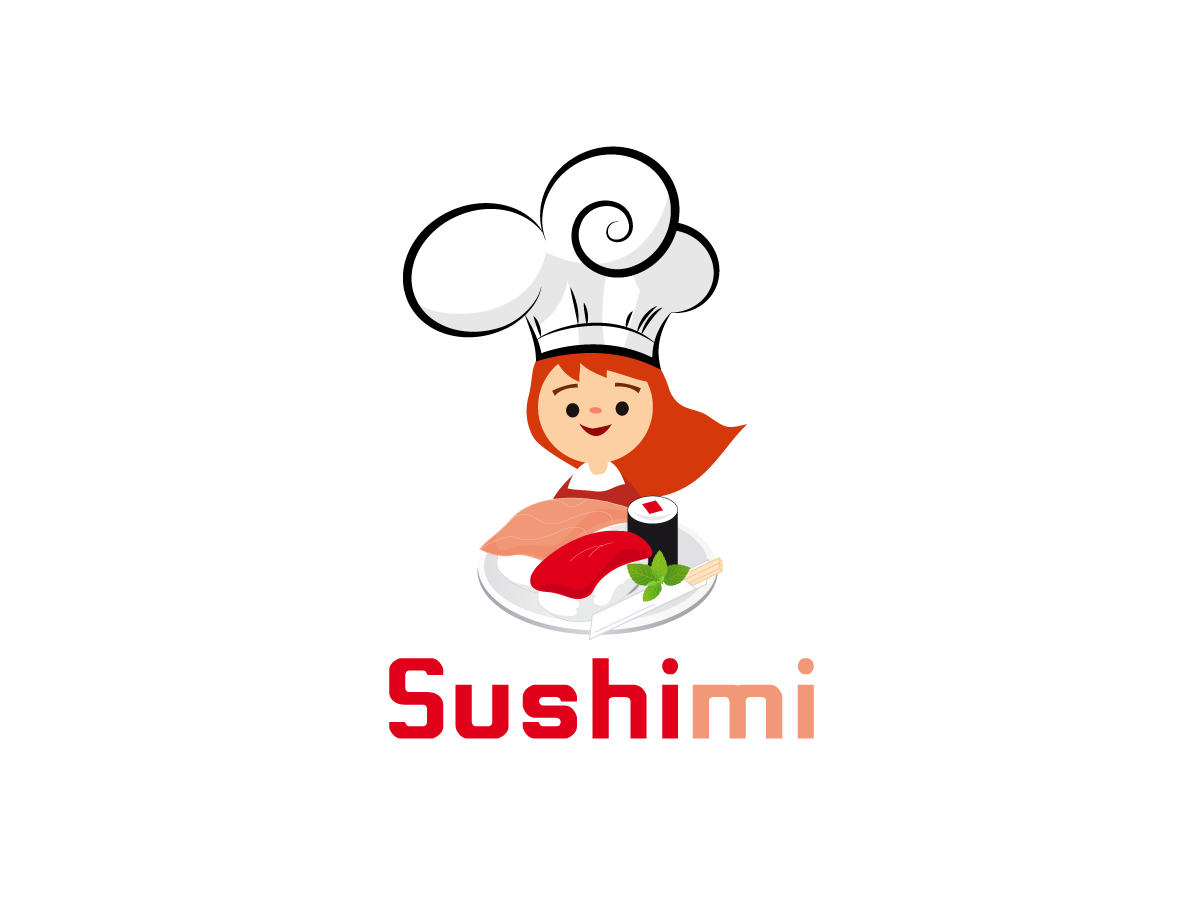 1200x900 Playful, Personable, Fast Food Chain Logo Design For Sushimi