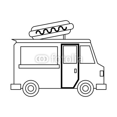 400x400 Food Truck Restaurant In Black And White Buy Photos Ap Images