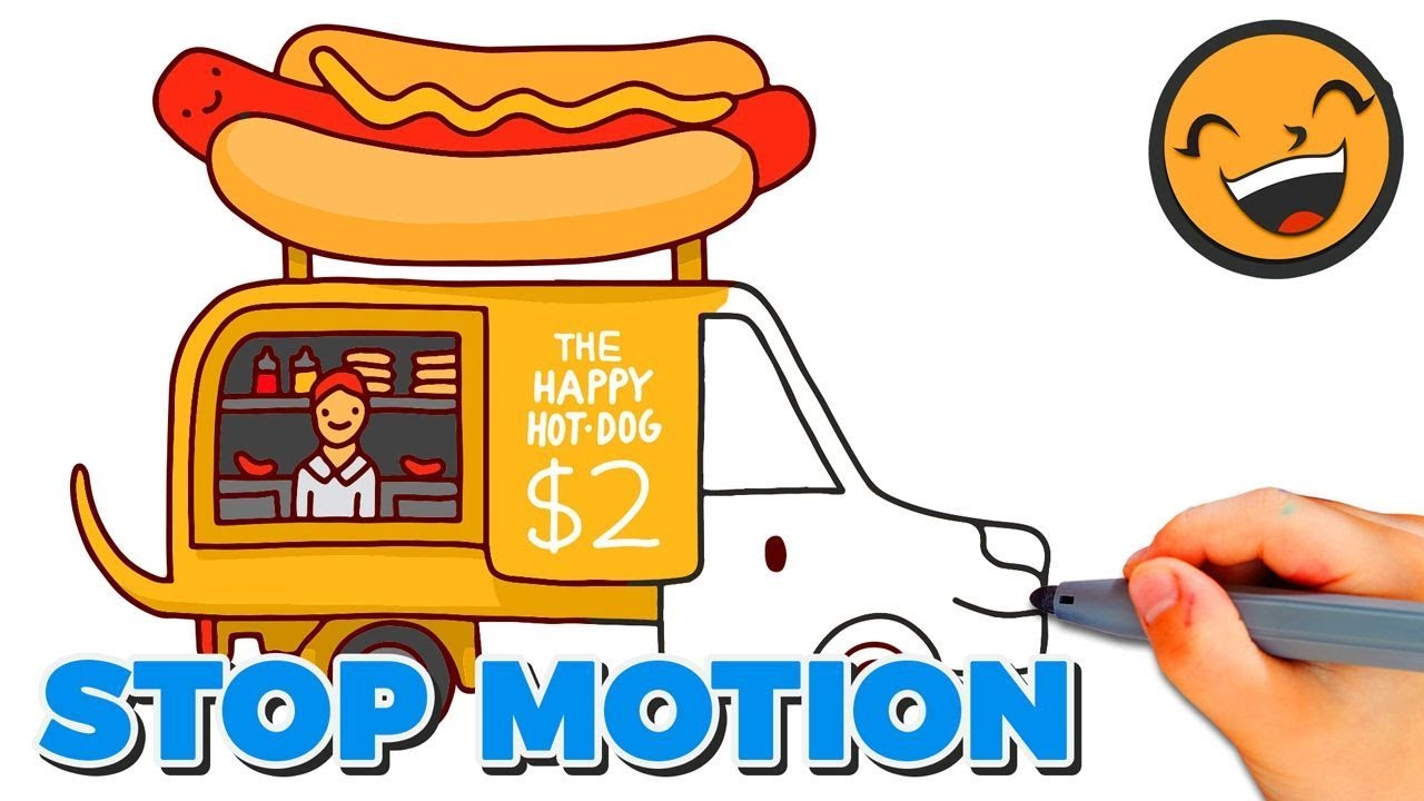 1280x720 How To Draw Hot Dog Truck