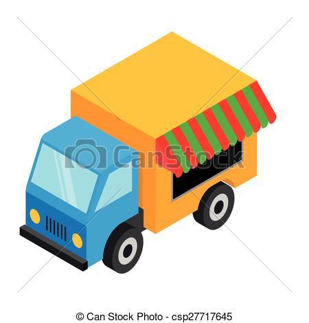 450x470 Isometric Food Van
