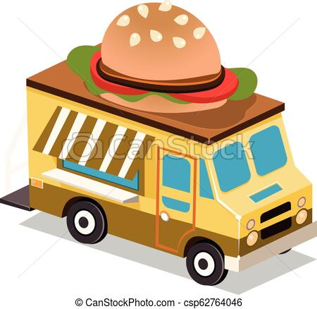 450x438 mobile food van mobile food van, food truck vector illustration