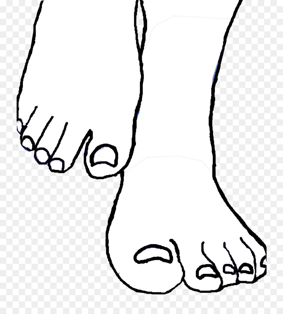Foot Outline Drawing