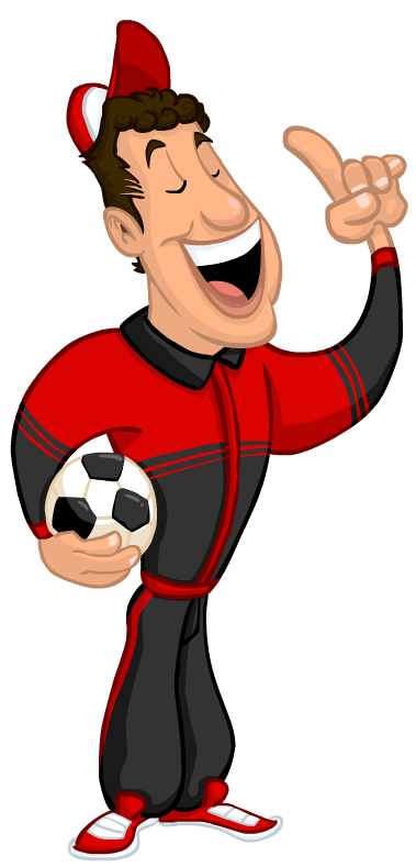 379x789 Coach Drawing Cartoon Football Transparent Png Clipart Free