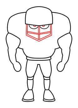 250x345 Drawing A Cartoon Football Player