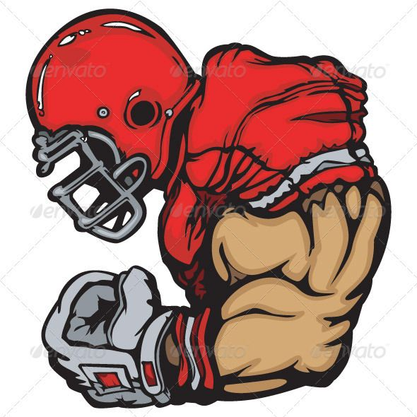 590x590 Football Player Lineman Vector Cartoon
