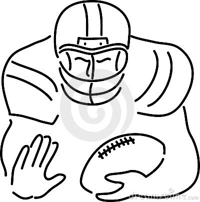 400x404 How To Draw A Cartoon Football Player Image Group