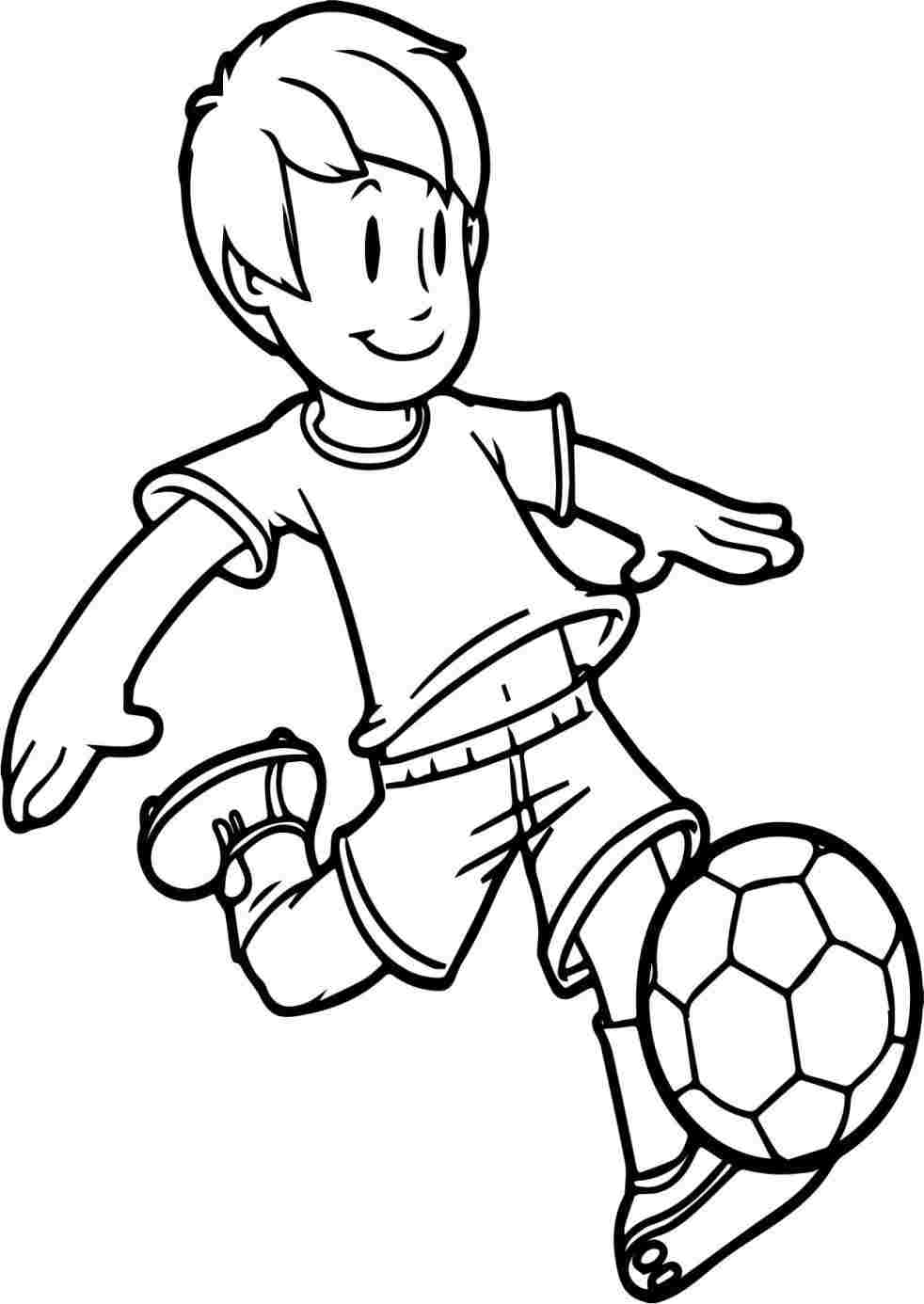 982x1386 Football Player Cartoon Drawing