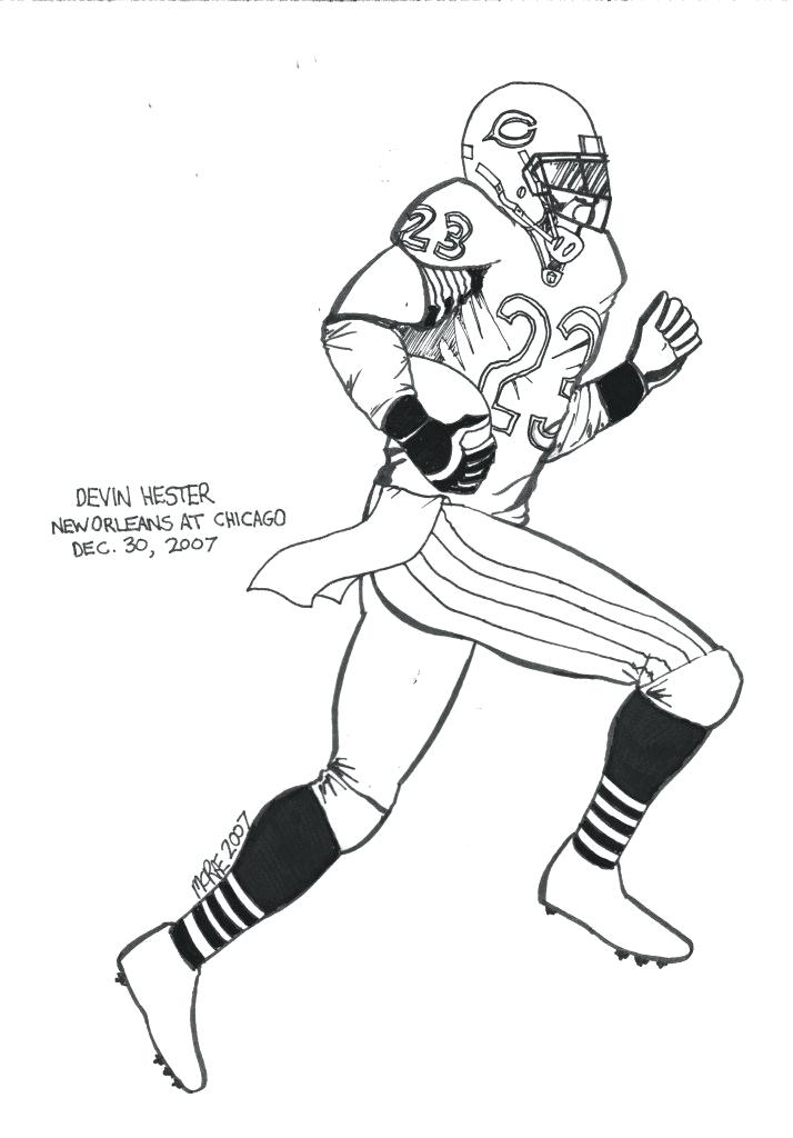 714x1024 Football Player Coloring Pages Images Of Drawing Football Player