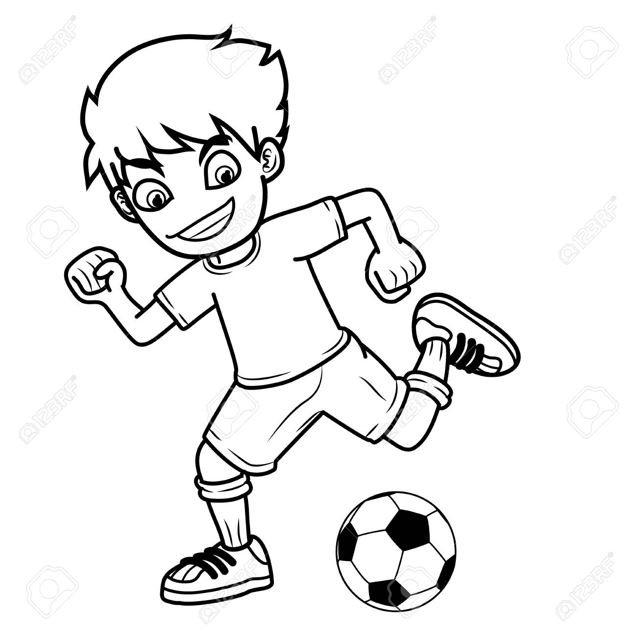 1300x1300 Football Drawing Black And White For Free Download
