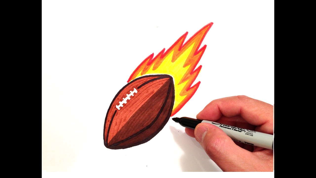 1280x720 How To Draw A Football With Flames