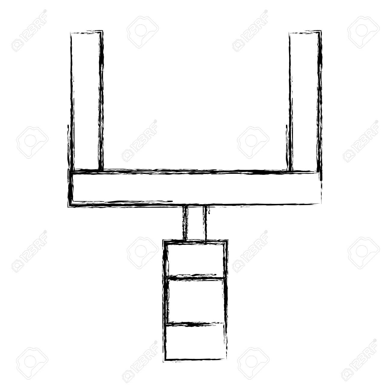 1300x1300 Huge Collection Of 'football Goal Post Drawing' Download More