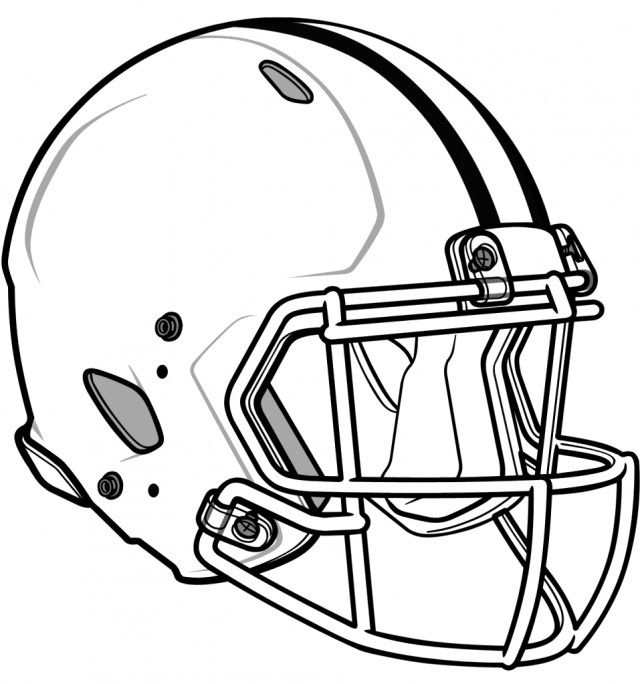 640x684 Football Helmet Drawing Template Crafts Football Helmets