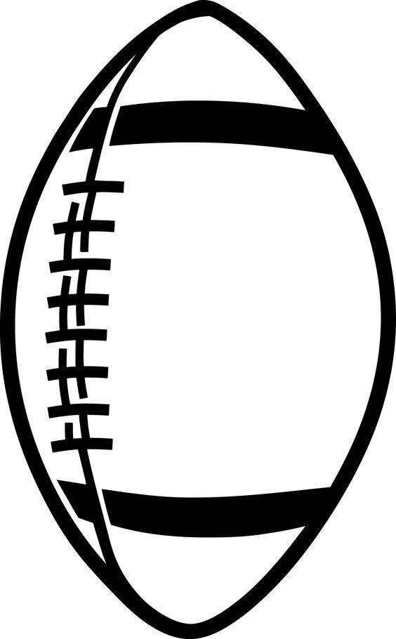 564x910 Football Outline Template