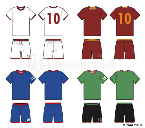 500x442 Football Soccer Uniform Fashion Flat Technical Drawing Template