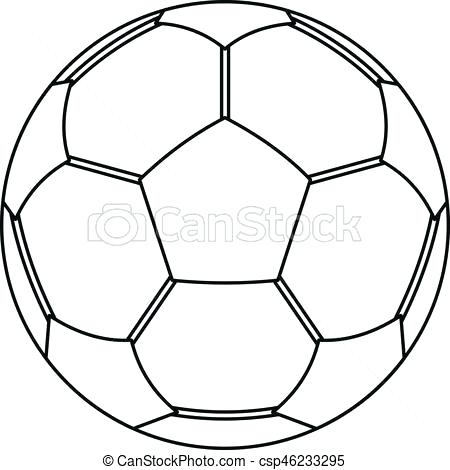 450x470 Outline Of A Football Best Collection Coloring Pages Graphic