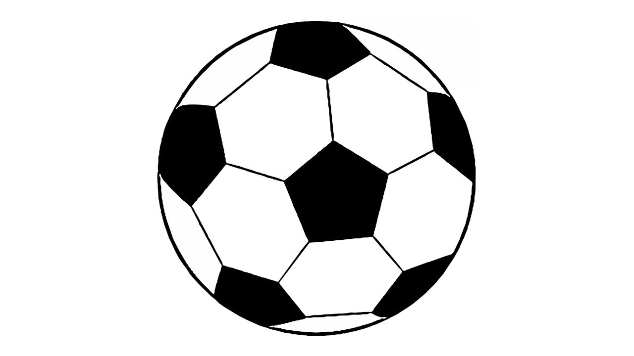 1280x720 Soccer Ball Drawing Template