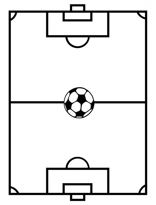 500x655 Soccer Field Template Craft Corner June Soccer Crafts