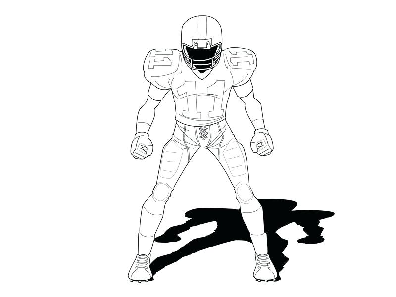 800x600 football player outline football player standing on white vector