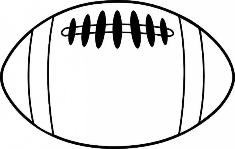 820x518 football outline football outline drawing