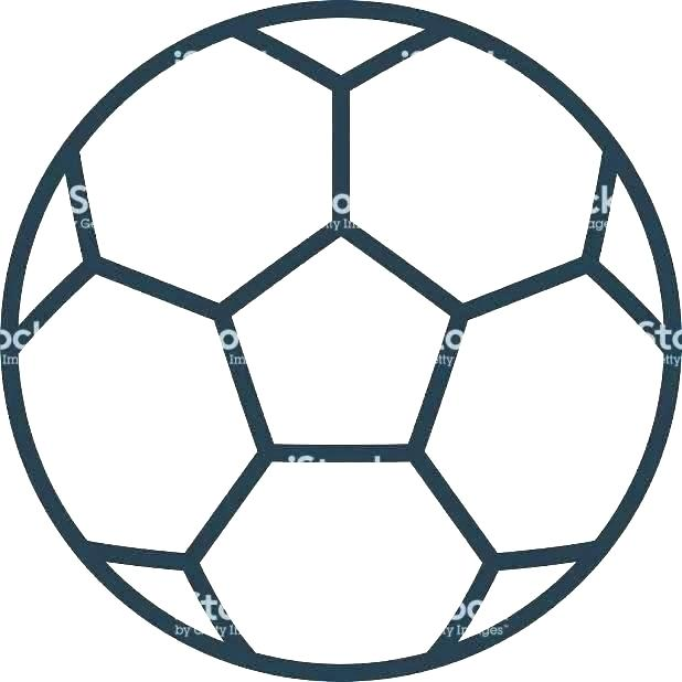 618x618 outline of a football outline drawing of football shirt