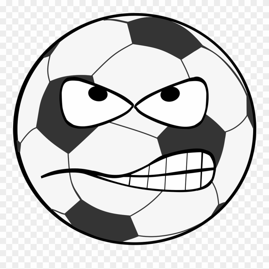 880x882 Football, Clip Art, Smiley, Evil, Flank, Shot, Goal