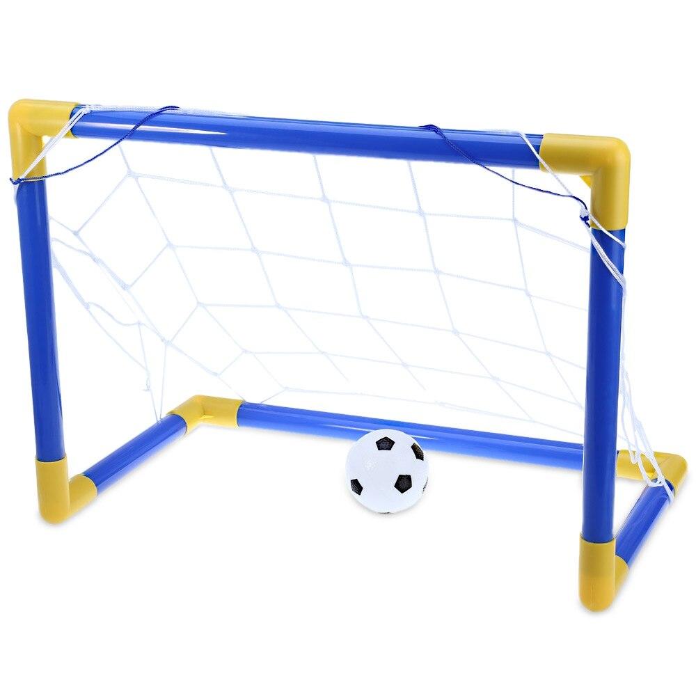 1000x1000 Mini Football Soccer Goal Post Net Set With Pump Indoor Outdoor
