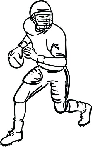 314x500 outline of a football outline drawing of football shirt