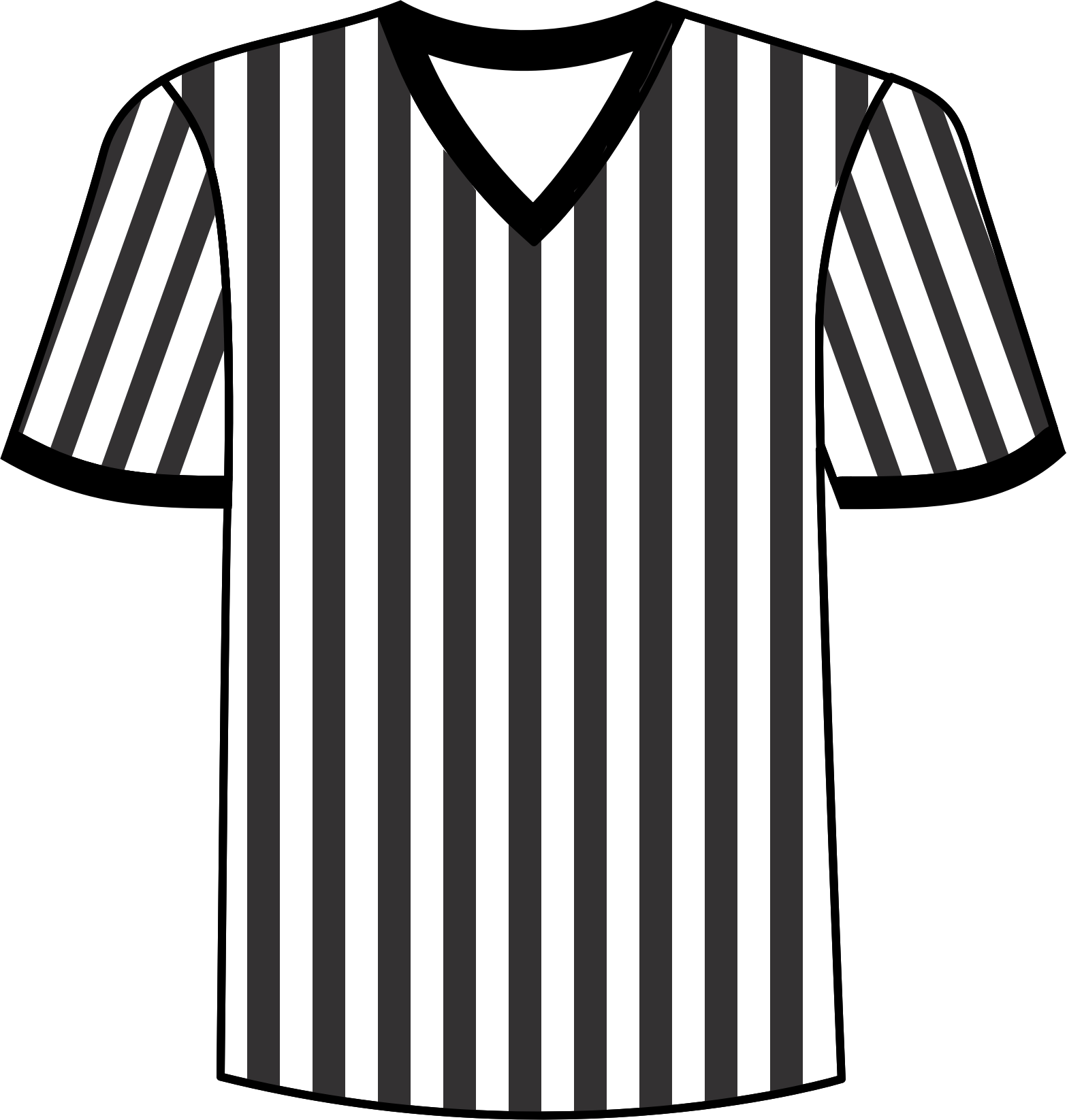 1567x1646 collection of free jersey clipart referee jersey amusement