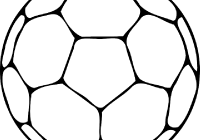 200x140 Football Outline Clipart