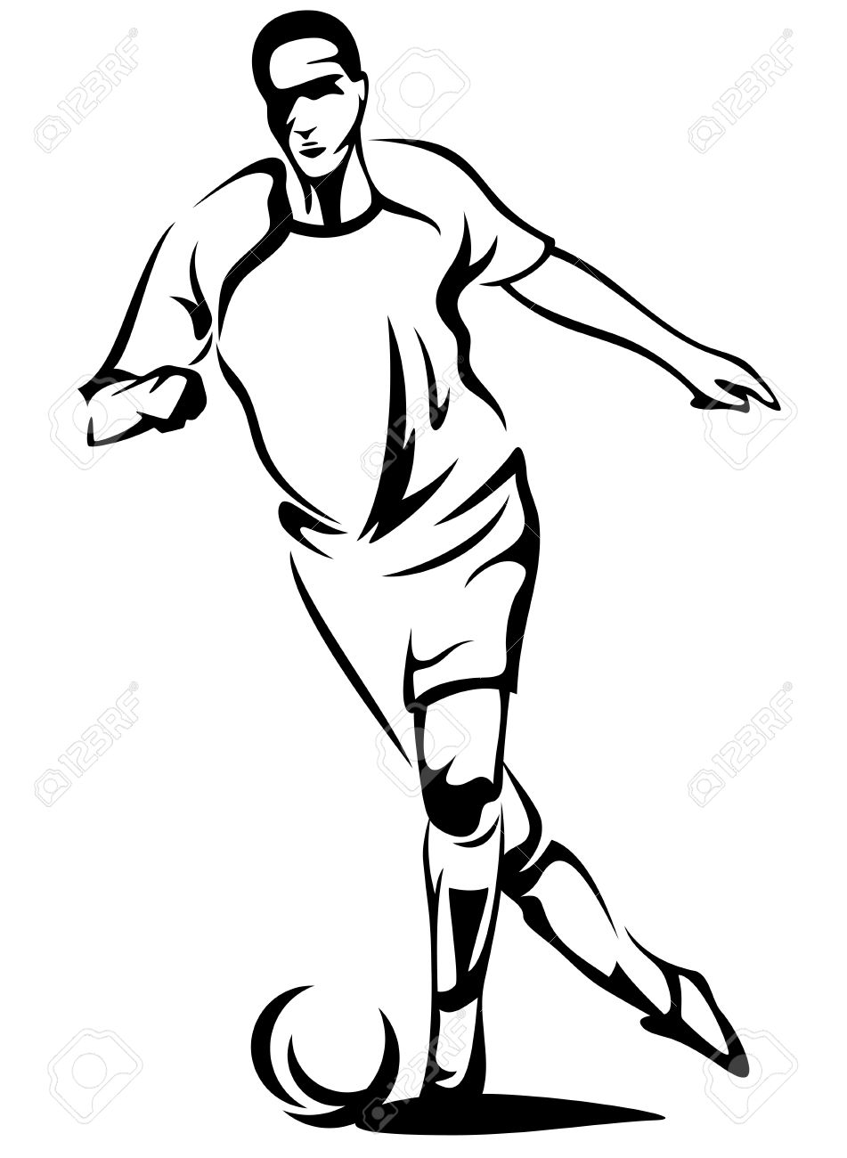 951x1300 Football Outline Clipart Black And White