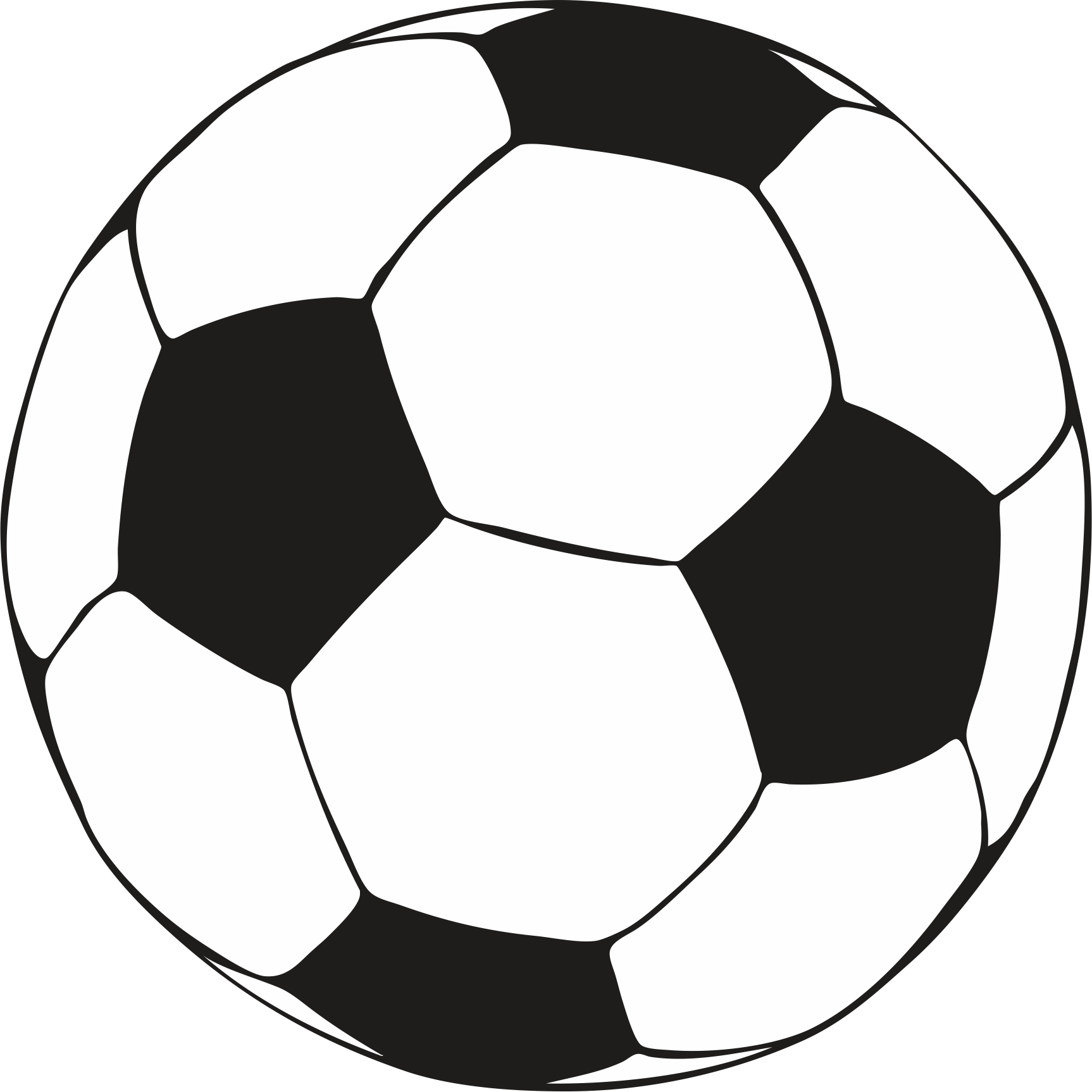 1726x1726 Soccerball Drawing Outline Transparent Png Clipart Free Download