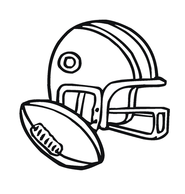 600x630 Football Helmet Outline Clip Art Easy Football Helmet Drawing