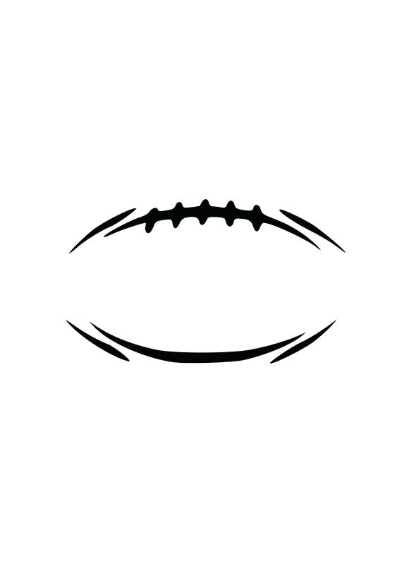 570x806 Football Outline