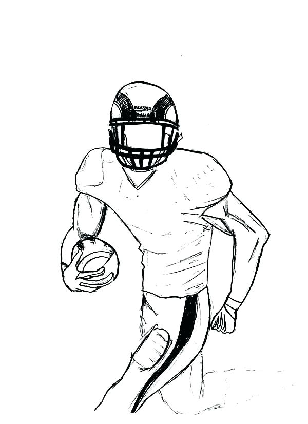 600x826 football player coloring pages images of drawing football player