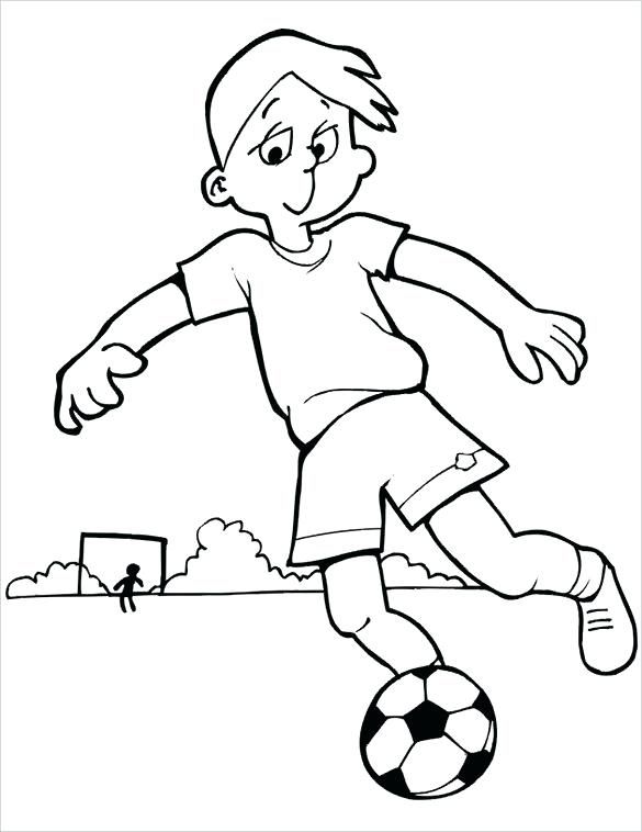 585x758 footballer colouring pages full size of football player coloring