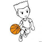 150x150 football player drawing steps luxury cartoon basketball player