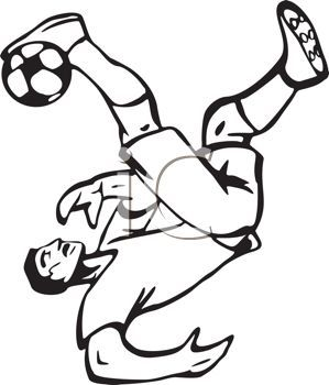 Football Player Line Drawing