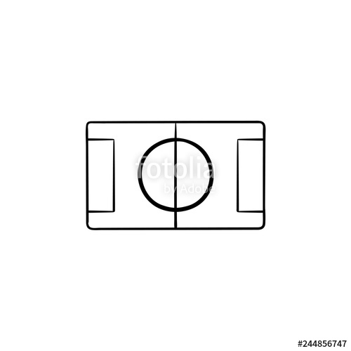 500x500 Football Stadium Hand Drawn Outline Doodle Icon Soccer
