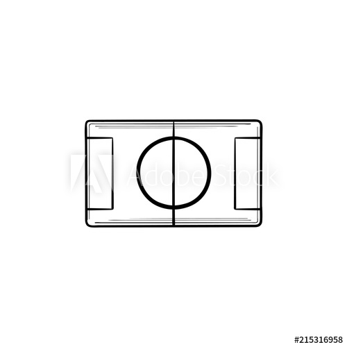 500x500 Football Stadium Hand Drawn Outline Doodle Icon Sport