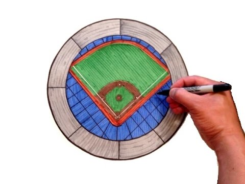 480x360 How To Draw A Baseball Stadium