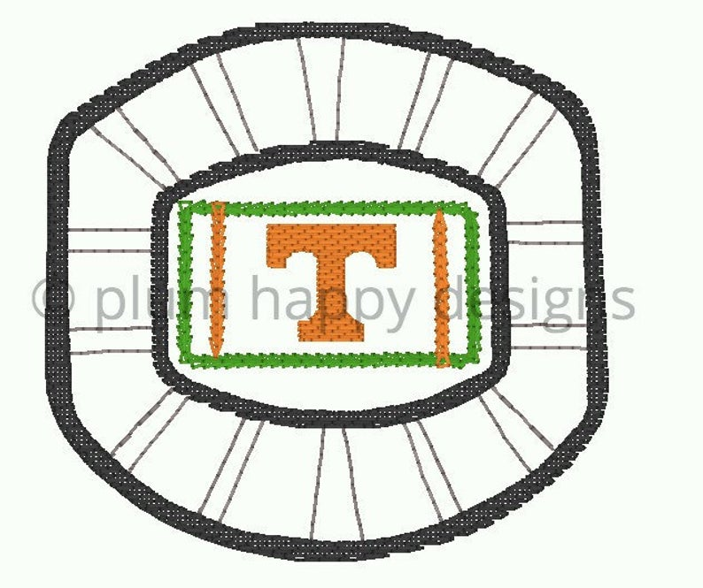 794x665 University Of Tennessee Football Stadium Field Go Vols Etsy
