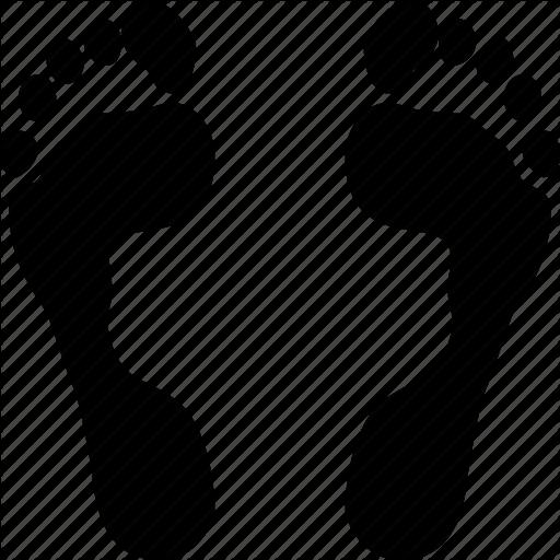 512x512 Footprint, Drawing, Black, Transparent Png Image Clipart Free