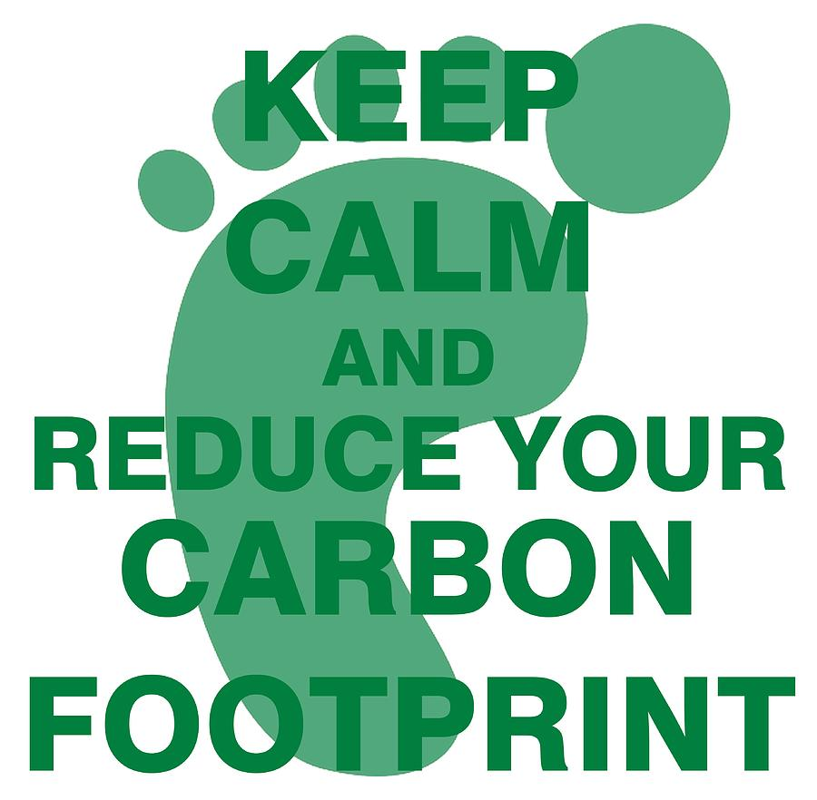 900x882 Keep Calm And Reduce Your Carbon Footprint Drawing